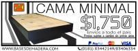 venta-muebles-minimalistas   Bases De Madera En Monterrey  en Monterrey